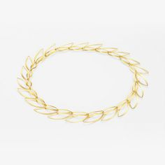 Kathrin Sättele Schmuck - Necklace composed of leaf shaped and individually detachable elements, 750 gold