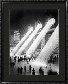 Sunbeams in Grand Central Station Photographic Print at Art.com