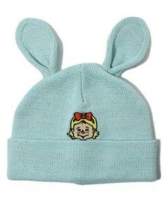 wc / rabbit ear knit CAP wc (Double Sea) (knit cap beanie) | Blue