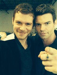 Can't handle his dimples! love these boys. Joseph Morgan + Daniel Gillies - The Originals cast. ♥