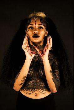 Make up- Laura rose Rooney  Photographer- Kim Simpson  Model- Bianca Edwards  makeup tribal-makeup editorial makeup editorial photography bodypaint
