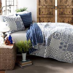Buy Monique 3-Piece Blue Quilt Set at Walmart.com