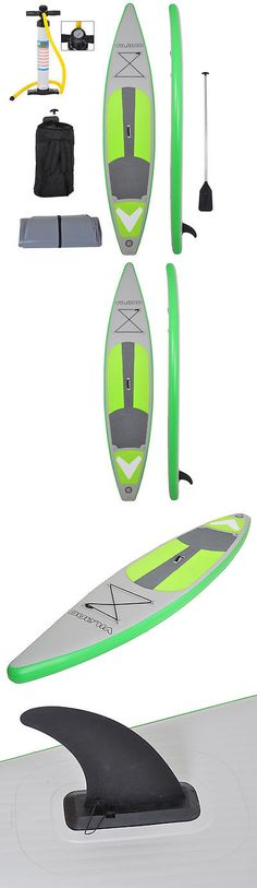 Stand Up Paddleboards 177504: 12 (6 Thick) Inflatable Touring Race Sup Stand Up Paddleboard W/ Pump And Paddle BUY IT NOW ONLY: $539.0