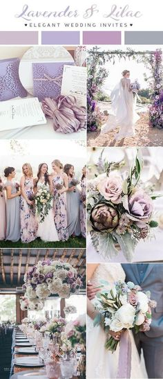 lavender and lilac shades of purple wedding color trends for 2018 fall wedding corsage / fall wedding boutineers / fall wedding burgundy / wedding fall / wedding colors Country Wedding Colors, Spring Wedding Colors, Purple Wedding Colors, Vintage Purple Wedding, Purple Summer Wedding, Country Weddings, Beach Weddings, Summer Colors, Summer Wedding Themes