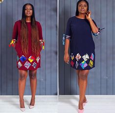 Modern Styles Of Ankara Patches With Plain