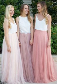 Tulle Skirt Bridesmaid, Pink Tulle Skirt, Unique Bridesmaid Dresses, Satin Tulle, Wedding Bridesmaids, Tulle Lace, Tulle Skirts, Bohemian Bridesmaid, Tulle Gown
