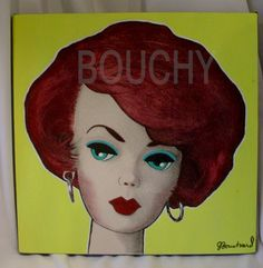 AFKA Joshard redhead  bubblecut Barbie painting by Jeff Bouchard