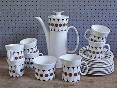 Black Velvet coffee set designed by John Russell for Hostess Tableware