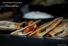 Sweet Potato & Black Bean Quesadilla are a delicious lunch!