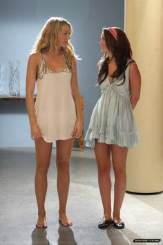 """Blair and Serena _ night gowns. Season 2 Episode 2 """"Never Been Marcused""""."""
