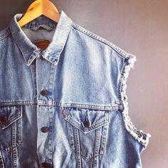 Men's Vintage 80s Levi's Faded Denim Vest by VioletsAtticVintage, £39.00