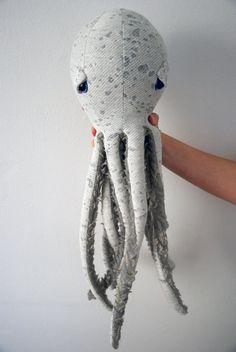SALE Handmade Plush Octopus Stuffed Animal // Eco by BigStuffed, €70.00