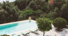 pool and sun beds in the Traditional villa for 8 in North Zakynthos, Greece, near The Peligoni Club with a pool