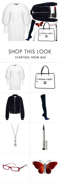"""""""06.11.2017"""" by chrissy6 ❤ liked on Polyvore featuring E L L E R Y, Chanel, Dion Lee, Casadei, Blue Nile, By Terry, Vivienne Westwood and NARS Cosmetics"""