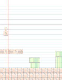Mario Lined Stationary by maybirdfan.deviantart.com on @deviantART