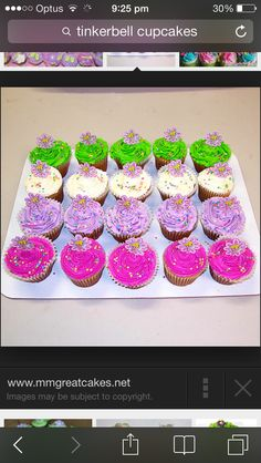 Tinkerbell Cup Cakes