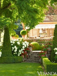 Formal English Garden Design in  Lake Geneva, Wisconsin