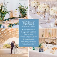 Creativo Loft - All Inclusive Wedding packages available for small weddings in Chicago with up to 74 people.