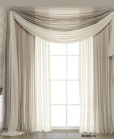 Simple Beige - Bedroom Curtain Ideas,Simple Beige - Bedroom Curtain Ideas Curtain track or curtain pole? The most common kinds of fastening for curtains are rods and rails. Living Room Decor Curtains, Home Curtains, Living Room Windows, Curtains With Blinds, Ideas For Curtains, Curtain Ideas For Living Room, Bow Window Curtains, Silk Drapes, Drapery Ideas