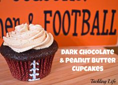 Dark Chocolate & Peanut Butter Cupcakes