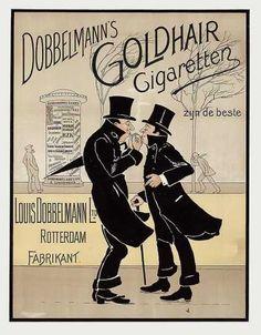 1910: Le Tabac dans les classes les plus aisées : France / Pays-Bas