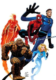 Spidey and the FF.