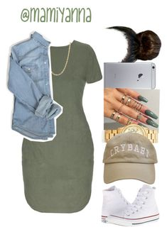 """""""Overtime ~ Bryson Tiller ☁️"""" by mamiyanna ❤ liked on Polyvore featuring Michael Kors, Converse, women's clothing, women's fashion, women, female, woman, misses and juniors"""