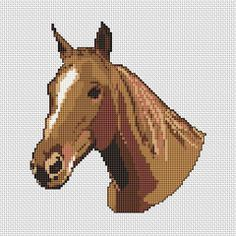 Horse Head, free cross stitch pattern from Alita Designs