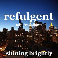 The refulgent city sparkles at dusk. Photo by @hbgeller #manhattan #citylight #hbgphotography #wordoftheday #dictionary