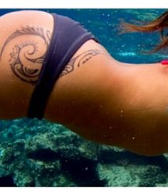 Polylnesian tattoo - hip #polynesian #tattoo