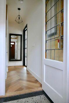 Paper Light Shades, Crittal Doors, Hallway Storage, Vestibule, Entry Hall, Hallway Decorating, Neon, Bright, Terrazzo
