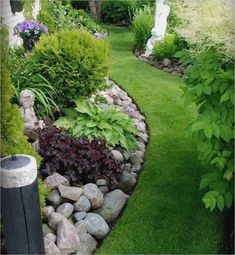 Best Small Yard Landscaping & Flower Garden Design Ideas Because you have a small garden, it doesn't want to work a lot. A small garden can be very exotic with just a little planning. Improving a beautiful modern garden [ … ] Small Front Yard Landscaping, Landscaping With Rocks, Landscaping Tips, Garden Landscaping, Rockery Garden, Landscaping Software, Landscaping For Small Backyards, Back Yard Landscape Ideas, Landscape Boarders