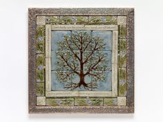 Handmade ceramic tile Tree of Life tile mural by SoMiTileworks