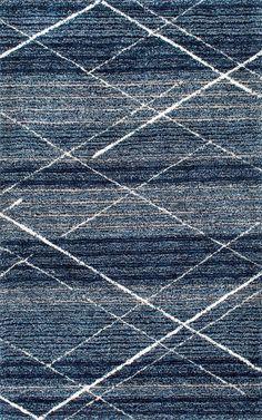 Hickman Hand-Tufted Blue Area Rug