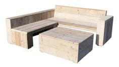 Doe-Het-Zelf bouwpakket Lounge hoekbank van nieuw of oud steigerhout voorraad artikel (22131539) (lhbrr)