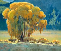"""""""In the Shade of the 'Ol Cottonwood Tree, by Kenn Backhaus. Featured at Maynard Dixon Art 2004."""
