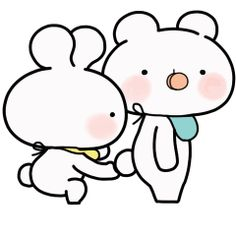 LINE Official Stickers - Everyday Love Baby Usakkuma Example with GIF Animation Cute Love Gif, Cute Love Pictures, Baby Stickers, Funny Stickers, Black And White Chickens, Love From Another Star, Cute Love Cartoons, Dibujos Cute, Lonely Heart