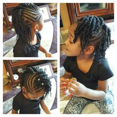 Side braids and 2 strand twist