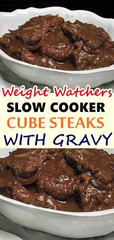 Cube steaks and gravy is perhaps one of the most quintessential American dinners. Waffle Recipes, Ww Recipes, Slow Cooker Recipes, Crockpot Recipes, Cooking Recipes, Snacks Recipes, Skinny Recipes, Burger Recipes, Candy Recipes