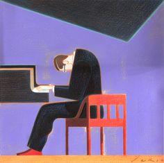 Andrea Serio - portrait of Bill Evans