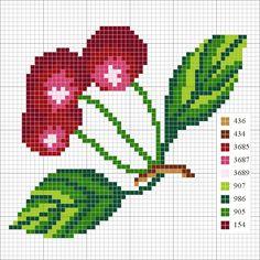 Cherries hama perler pattern