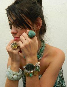 AR Essencial Joias Eco - Friendly - Maxi Anel Flor Green Gold