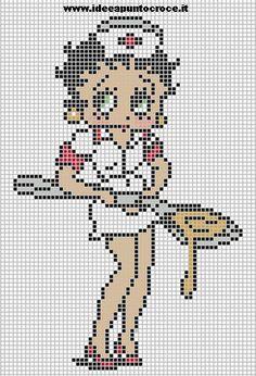 0 point de croix betty boop infirmiere - cross stitch betty boop nurse
