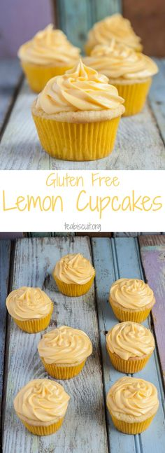 Easy Gluten Free Lemon Cupcakes, no mess, no fuss, all ingredients mixed in one bowl!
