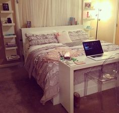 Keeping things organized is a great way to make your bedroom cozy!
