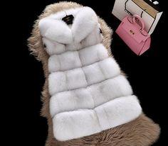 Las mujeres de Piel Falsa Chaleco Sin Mangas de la Señora del Invierno prendas de Vestir Exteriores Corta de Piel chaqueta de Moda Femenina Delgada Capa de la Señora Chaleco de Piel de Piel de Invierno escudo