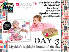 ooh, NEWS JUST IN! 15% OFF for Myakka Customers at www.piccalilly.co.uk for #FairtradeFortnight