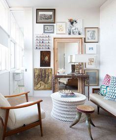 josh and meredith needleman, oly coffee table, gallery wall, small living room… Small Living Room Design, Small Living Rooms, Living Room Designs, Living Spaces, Interior Decorating, Interior Design, Decorating Ideas, Decor Ideas, White Paint Colors