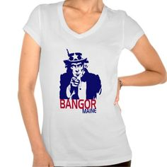 Show some USA pride with our patriotic, fun and stylish UNCLE SAM BANGOR MAINE TEE.     Great for the 4th of July, your city celebration or anytime of the year so don't miss out grab yours today. www.citystyletees.com