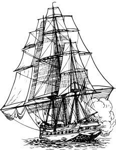 Frigate Ship clip art - vector clip art online, royalty free & public domain